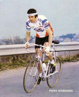 Ghibaudo Piero in azione con la maglia della GIS