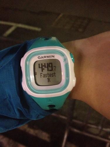 Mei's fastest kilometre.