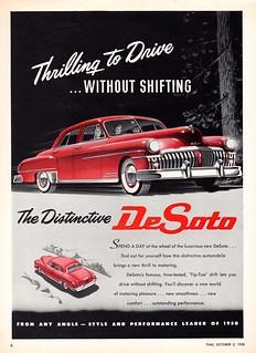 1950 DeSoto Custom Sedan (Canadian Ad)
