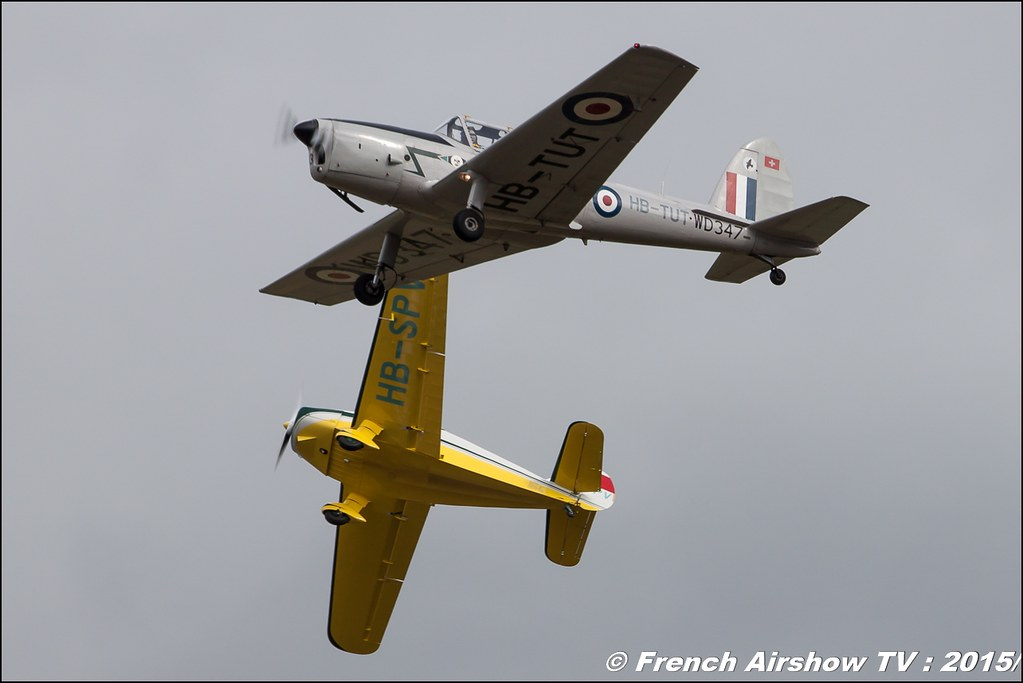 De Havilland Canada DHC-1 Chipmunk - HB-TUT Fly-In CASG Prangins 2015 aerodrome de la Côte LSGP Canon Sigma France contemporary lens Meeting Aerien 2015