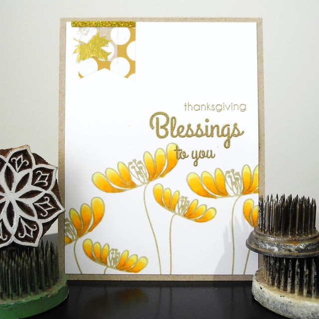 Thanksgiving Blessings by Jennifer Ingle #JustJingle #CASualFridaysStamps #Copics #cards