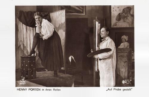 Henny Porten and Hermann Thimig in Auf Probe gestellt (1918)