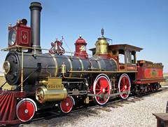 Replica of Union Pacific Railroad # 119 steam locomotive (4-4-0) (Golden Spike National Historic Site, Utah, USA) 2