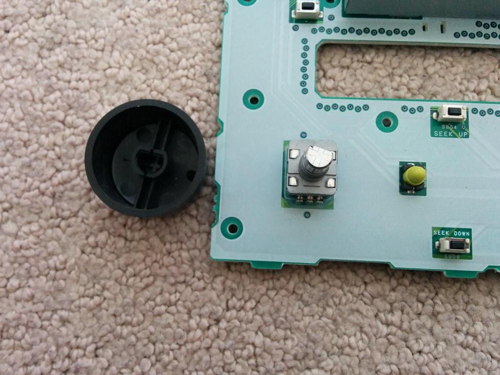 Front panel knob