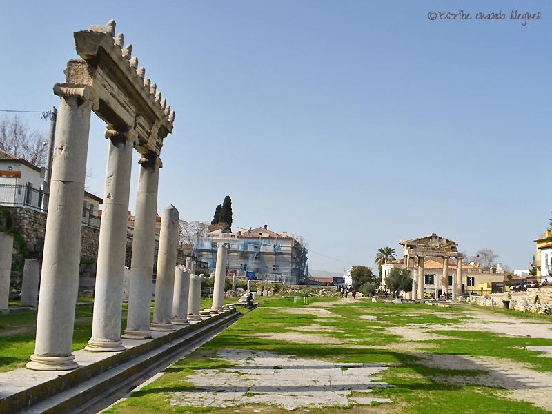 Columnata del mercado del Ágora romana