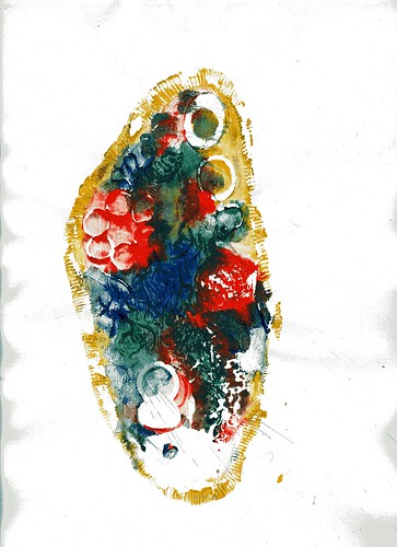 Bacteria clay print