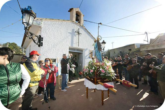 Los fieles llevaron a la Virgen de la Luz hasta El Cañar en su tradicional romería