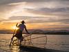 Fisherman at Inle Lake by TeunJanssen