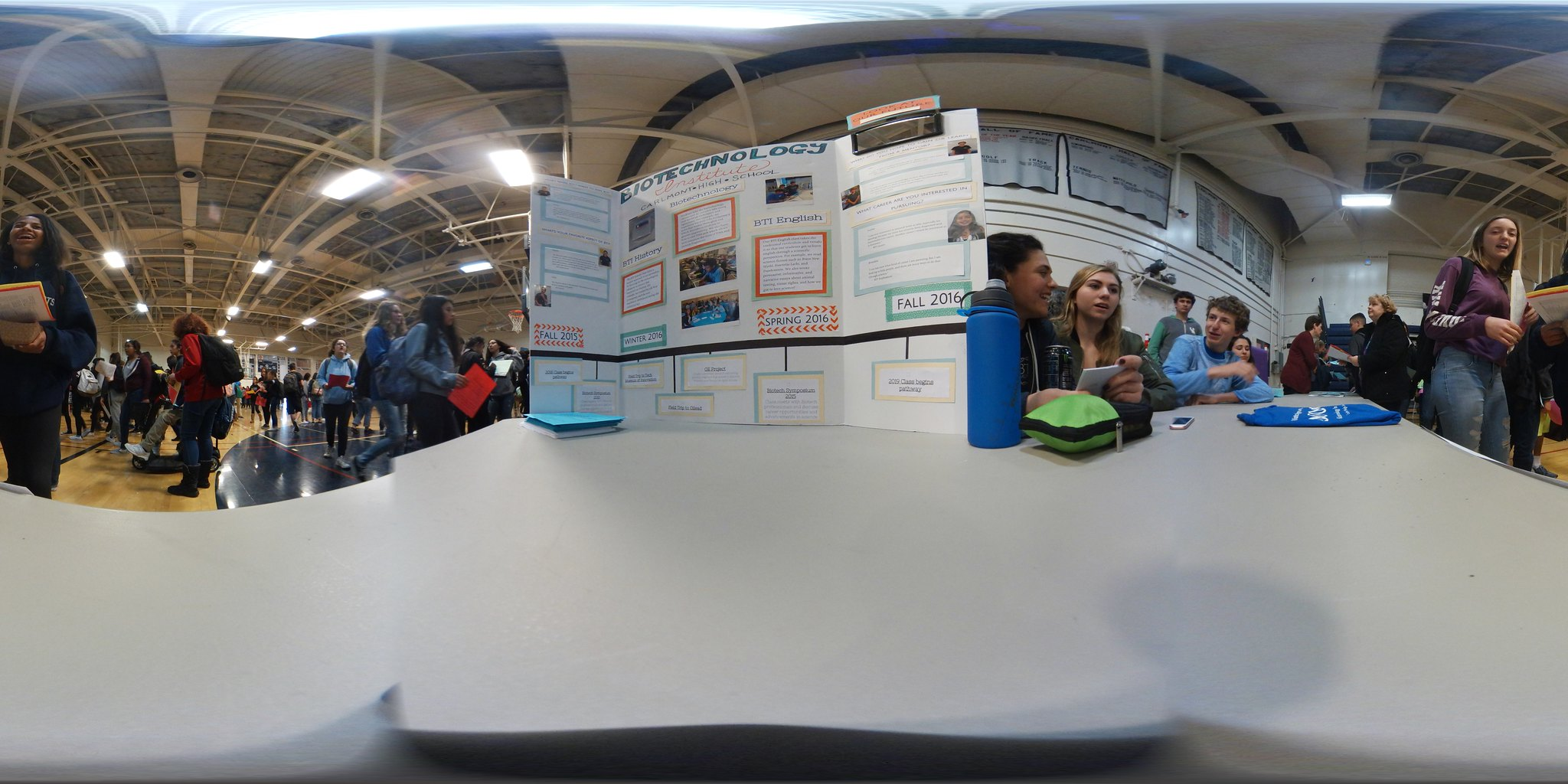 Biotech Stand at Carlmont Course Fair