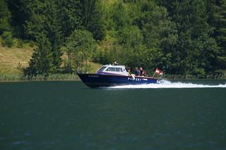 Polizeiboot am Weißensee (Kärnten)