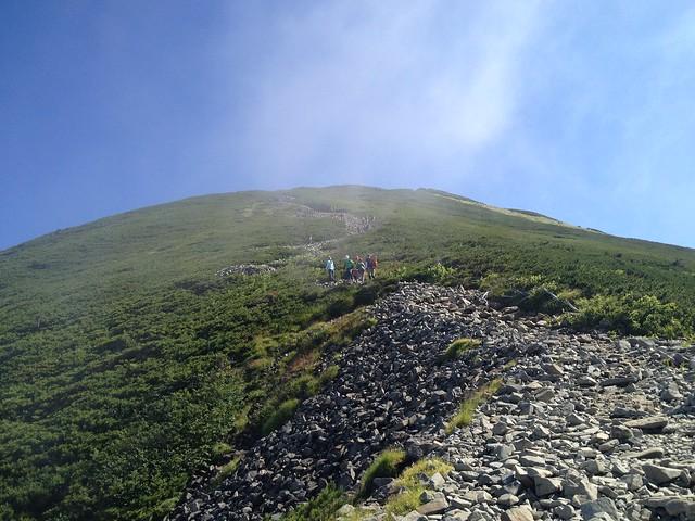 西穂高岳 西穂高口ルート 登山道