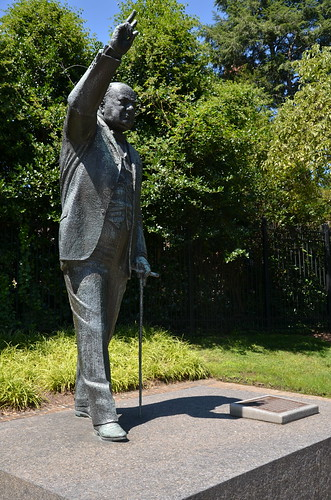 Washington DC Churchill Statue Aug 15 1