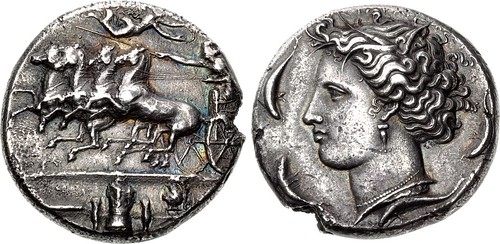 Lot 1288 Syracuse. Dionysios I Dekadrachm