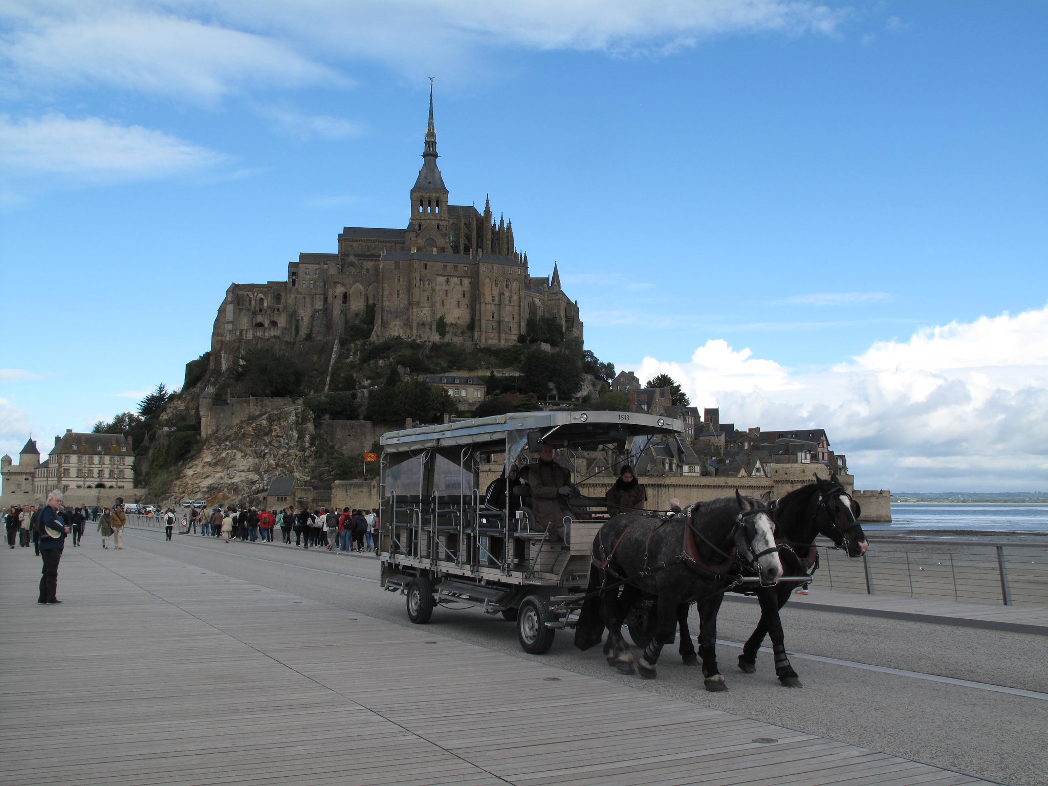 The new road to the Mont St Michel