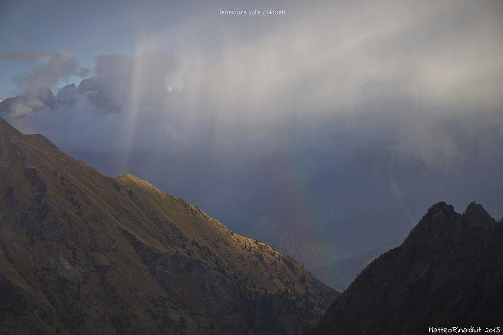 Temporale sulle Dolomiti del Brenta