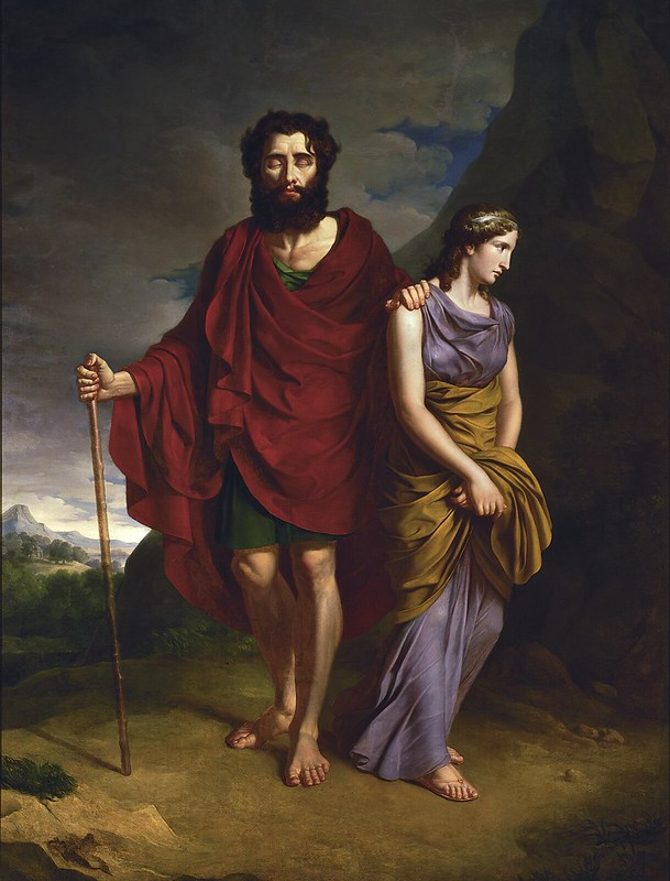 Antoni Brodowski - Oedipus and Antigone (1828)
