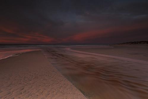 longexposure sunset sky seascape motion beach river landscape denmark landscapes sand stream å automn le lee manfrotto 6d tversted landoflight leefilters canoneos6d hlandersen tverstedå