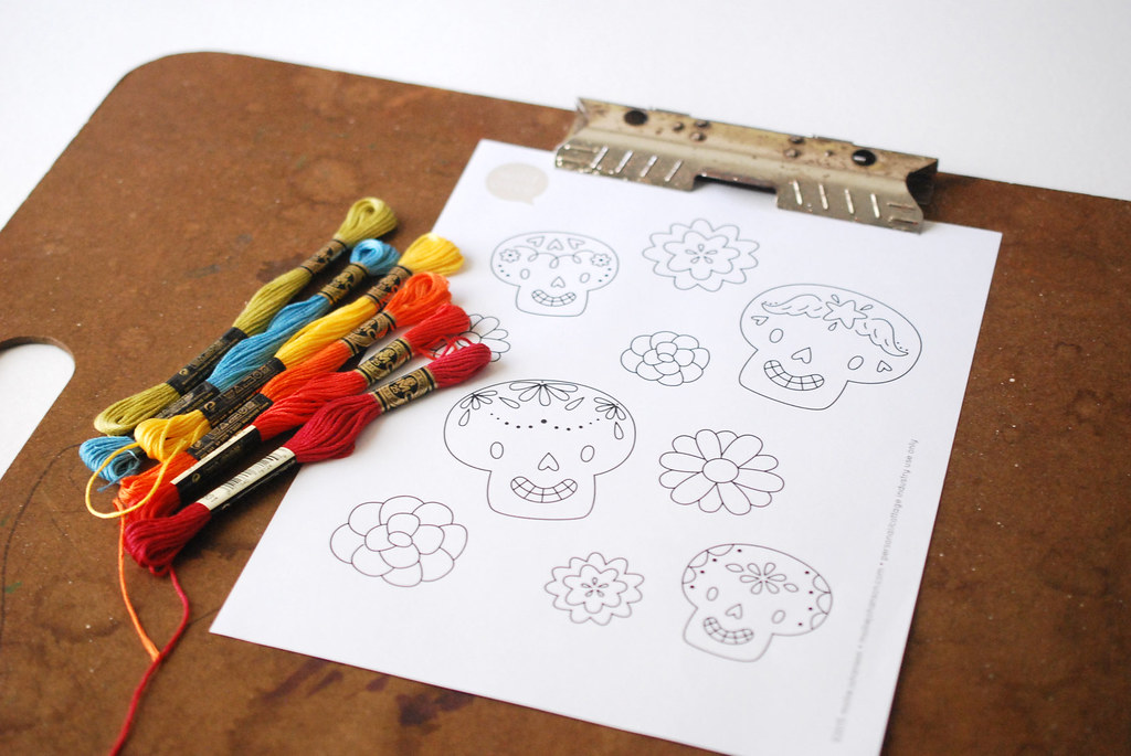 Dia De Los Muertos Embroidery Patterns