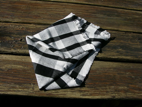 handwoven cotton tea towel