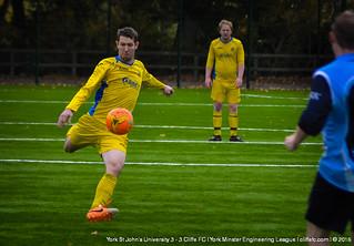Cliffe FC 3 - 3 York St John's Uni 24Oct15