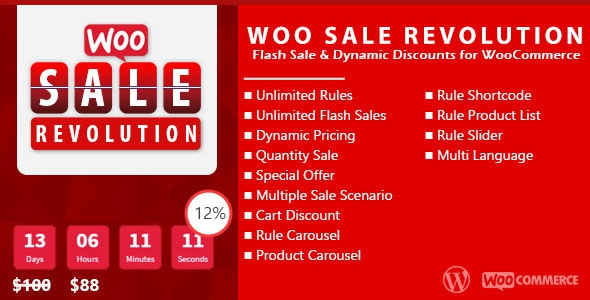 CodeCanyon Woo Sale Revolution v2.7 - Flash Sale+Dynamic Discounts