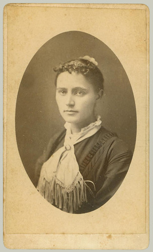 CDV Woman with Scarf