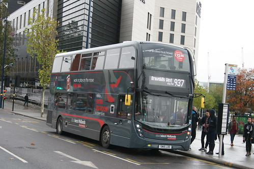 NX West Midlands 6721 on Route 937, Moor Street Queensway