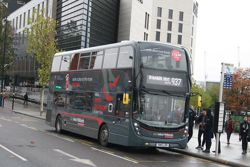 NX West Midlands 6721 on Route 937, Moor Street Queensway
