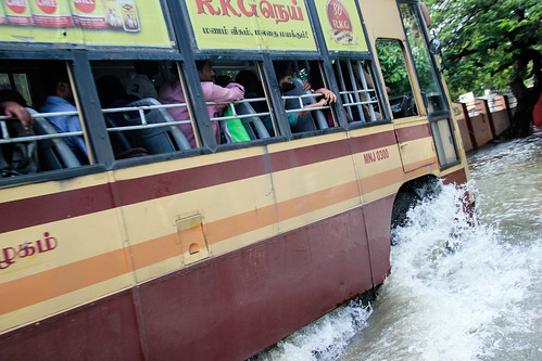 With several cars submerged and scores of others stuck in flooded roads and inundated car parks, the city's public transportation has once again come to the rescue. Chennai Metro and MRTS trains were seen operating in full capacity. The state government has made all rides on MTC buses free of cost from December 5 to 8