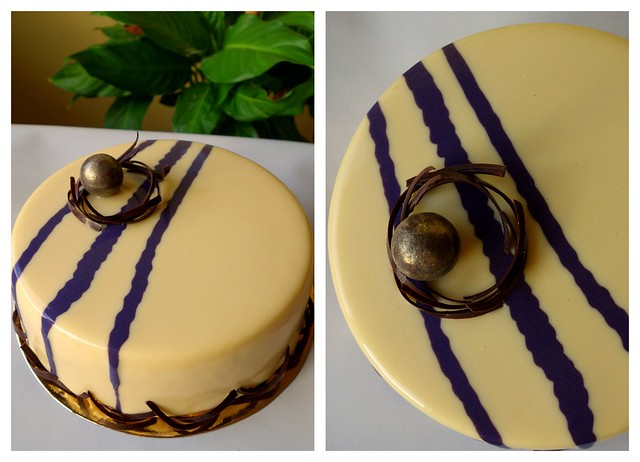 Lemon & Blackcurrant entremet