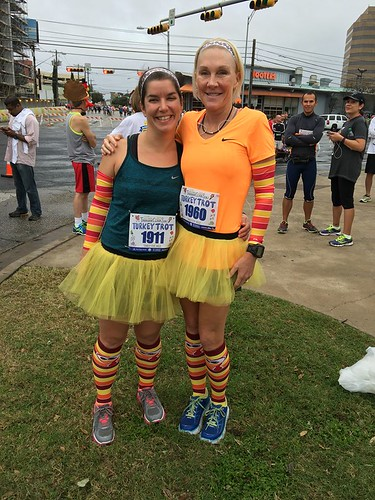 Turkey Trot 2015 - Amy and Karen