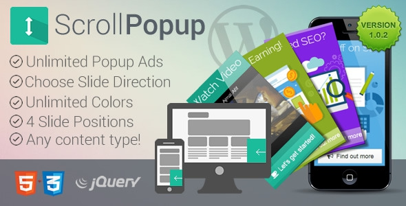 WordPress Scroll Popups Plugin v1.0.2