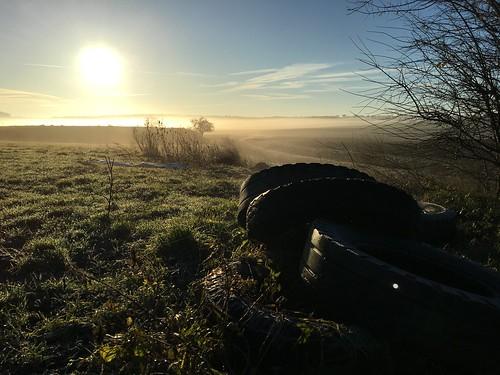Was für ein Morgen! #sunrise #feld #sonnenaufgang #field #dorf #hüpstedt #Eichsfeld #home #tire #nature #nebel #fog #meadow
