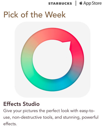 Starbucks iTunes Pick of the Week - Effects Studio