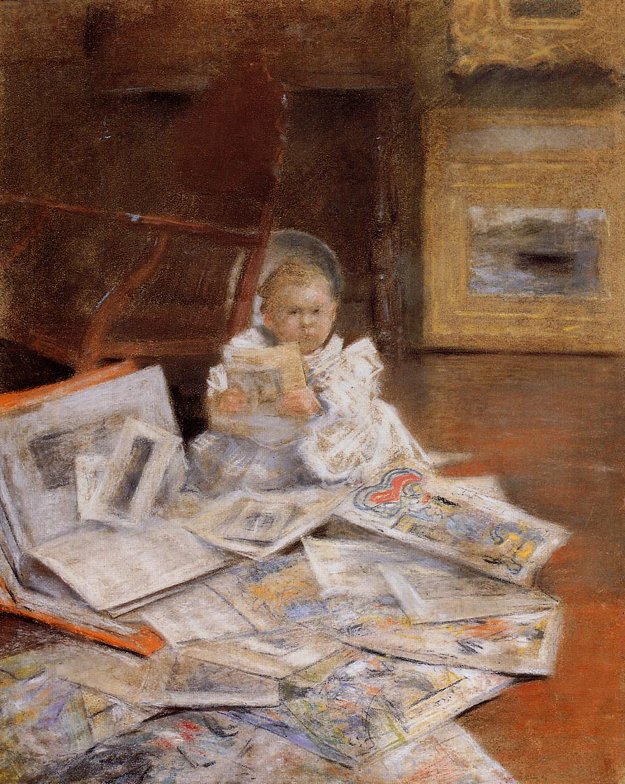 Child with Prints by William Merritt Chase, c.1884