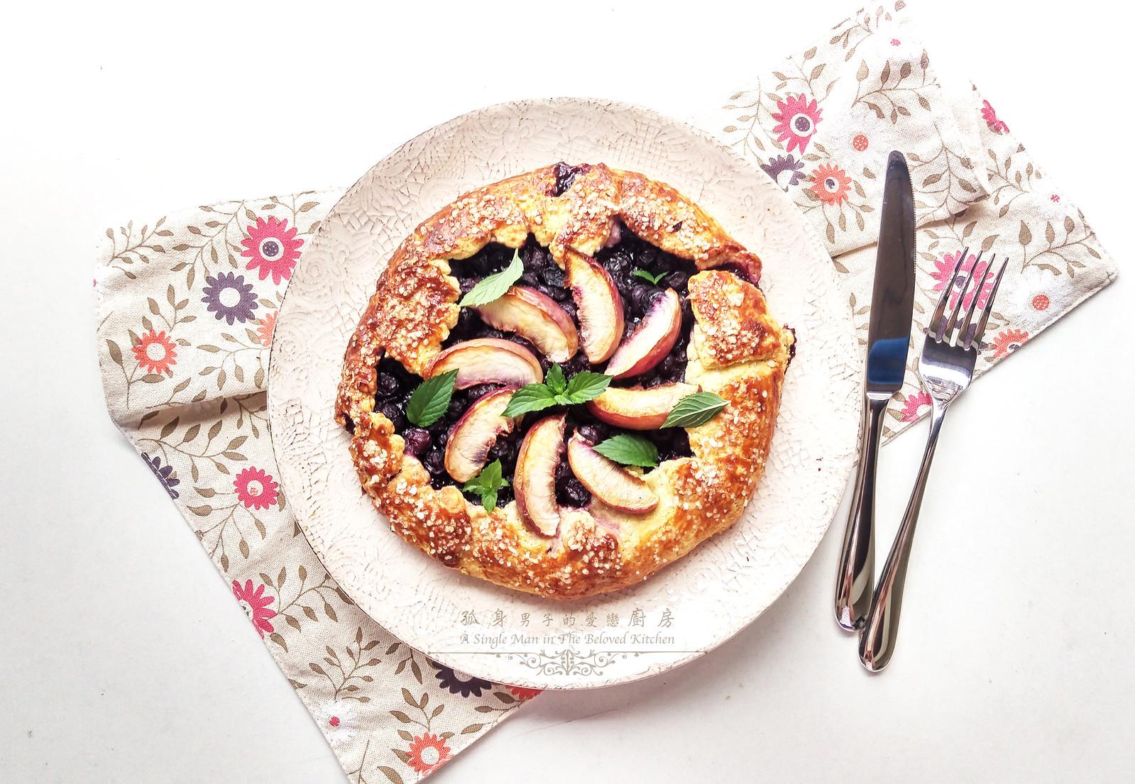 孤身廚房-藍莓甜桃法式烘餅Blueberry-Nectarin Galette27