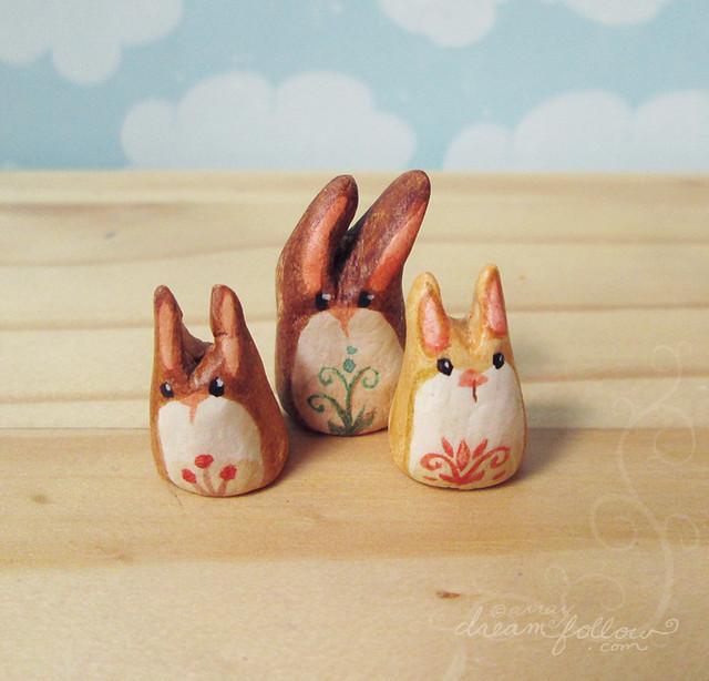 3 buns