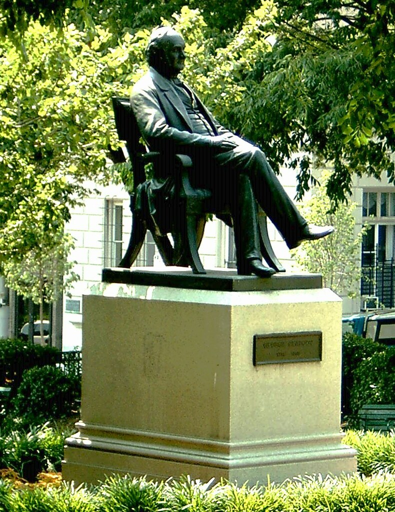 Statue to George Peabody, Mount Vernon, Baltimore