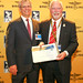 Alan Eustace (USA), Breitling Milestone Trophy winner and FAI President Dr John Grubbström