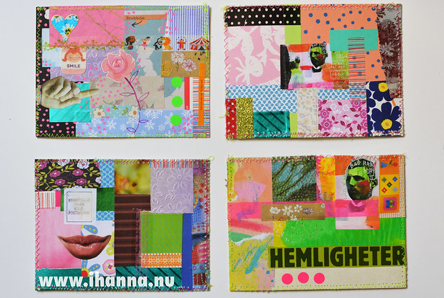 4 postcards side by side by iHanna
