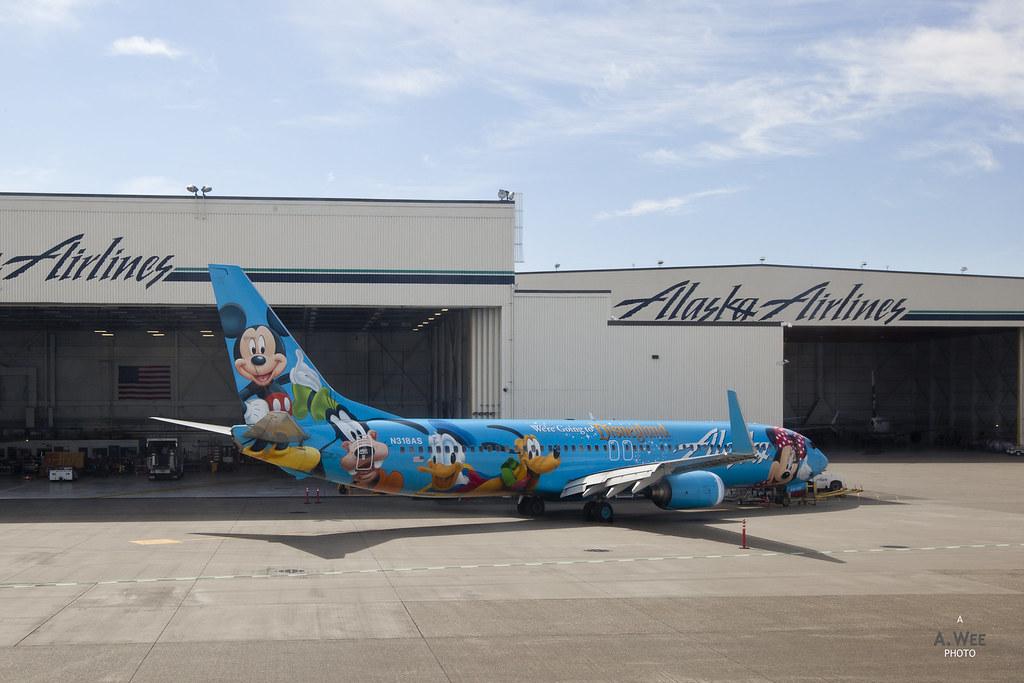 Alaska Air Disneyland 737