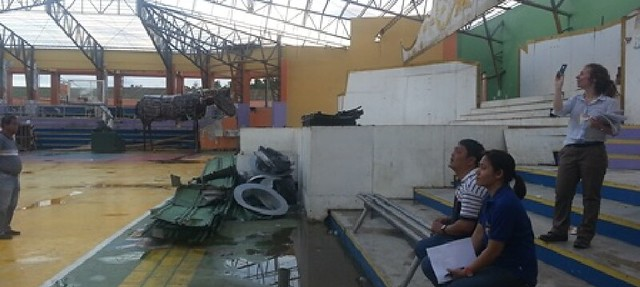 Damage to the Tabango Civic Centre, following the devastation of Super Typhoon Yolanda (II)