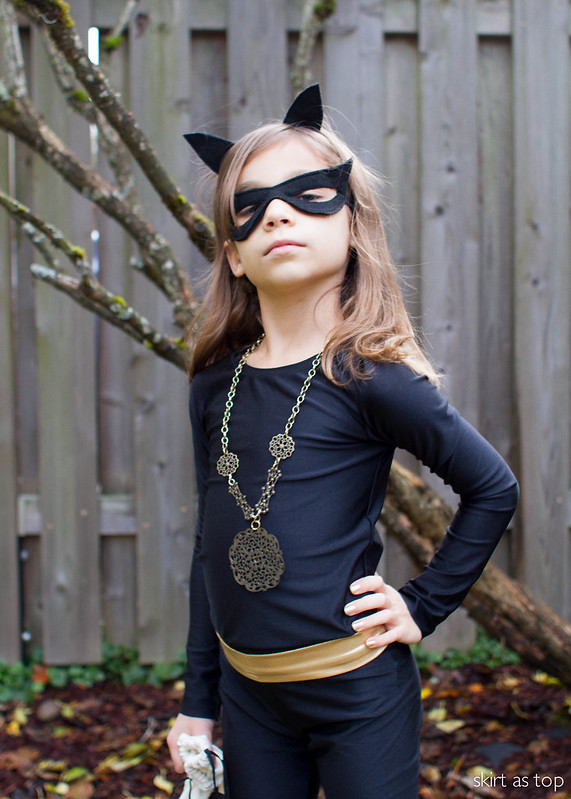 kid catwoman costume & handmade halloween 2015: kid catwoman u2013 skirt as top