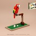 Birds 21301 alternate build: CLARENCE THE LONELY PARROT by Ochre Jelly