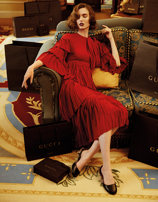 2e4571ad2f11a Gucci is holding a very sub-rosa sample sale at Soiffer Haskin this week  open exclusively to their employees and F&F. The brand has hosted  invite-only sales ...