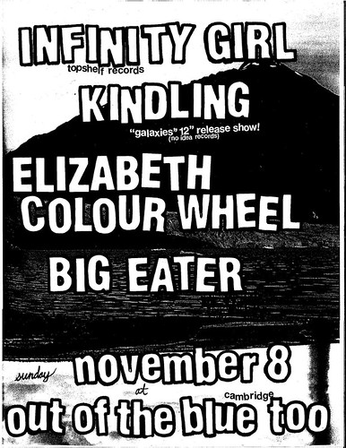 Infinity Girl, Kindling, Elizabeth Colour Wheel, Big Eater | Out Of The Blue Too | 8 Nov.