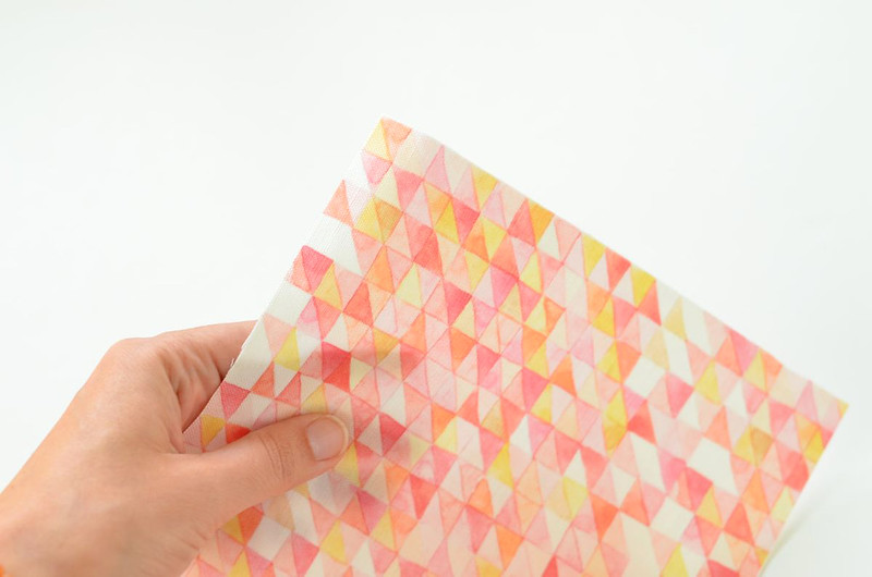 Watercolor Grid Fabric