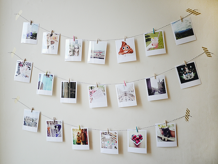 diy instagram photo garland 7