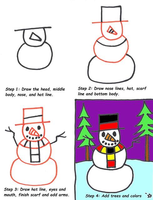 Snowman Lesson Up