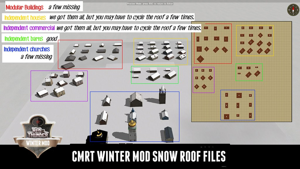 CMRT Winter Mod Snow Roof Guide